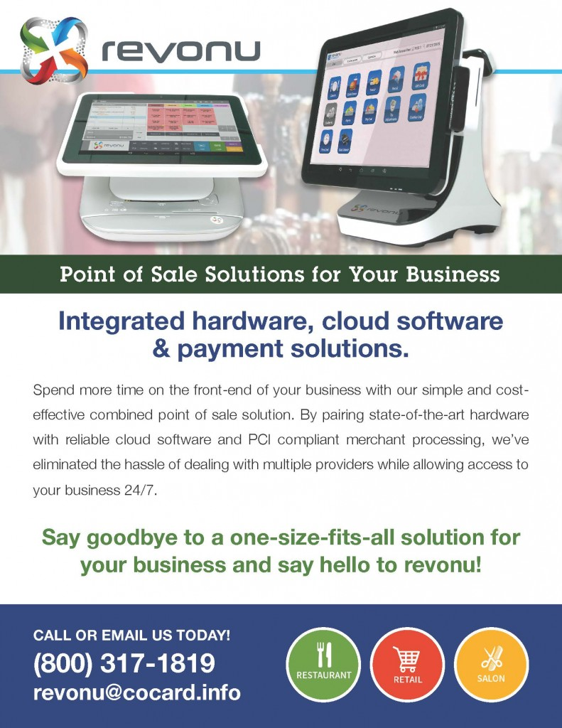 Revonu Point-of-Sale Brochure Sheet